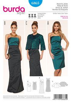 burda style c dress elegant