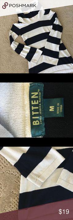 Bitten Sweater VGUC. Color is very dark navy/ black Sweaters Cowl & Turtlenecks