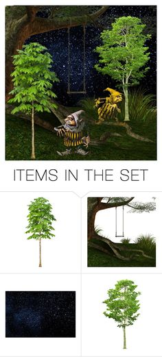 """""""They Come At Night Through The Trees"""" by sjlew ❤ liked on Polyvore featuring art"""