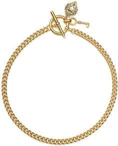 Macy s Lauren Ralph Lauren Necklace Gold Tone Curb Chain Toggle Necklace Lauren Ralph Lauren