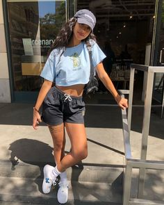 Flaws and all 👶🏽 Cute Comfy Outfits, Chill Outfits, Dope Outfits, Retro Outfits, Stylish Outfits, Summer Outfits, Fashion Outfits, Mode Ulzzang, Teenage Outfits