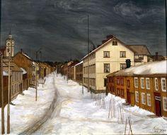 Mainstreet, Roros (1904) Harald Oscar Sohlberg