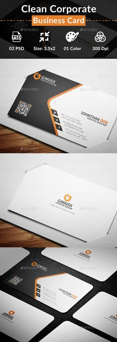 Clean Corporate Business Card Template PSD