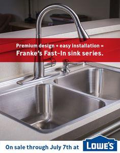 Franke Fast In Sink : Premium design + easy installation = Frankes Fast-In sink series. Now ...