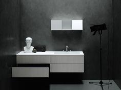 Mobile lavabo sospeso con cassetti SIMPLE by Boffi
