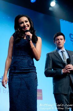Hosts Naya Rivera and Cory Monteith from Glee  23rd Annual GLAAD Media Awards  Saturday, March 24, 2012  New York Marriott Marquis