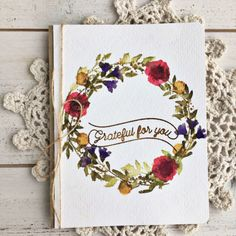 Grateful For You Card by Heather Nichols for Papertrey Ink (January 2017)