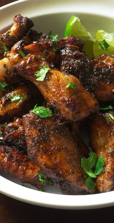 Jamaican Jerk Chicken Wings - Cooking Maniac Jerk Chicken Wings, Cooking Chicken Wings, Chicken Wing Recipes, Meat Recipes, Cooking Recipes, Cooking Games, Fried Chicken, Oven Recipes, Jamaican Dishes