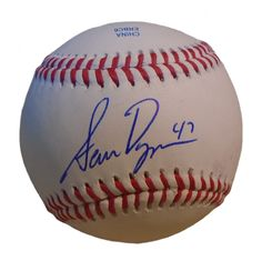 Sam Dyson Autographed Rawlings ROLB1 Leather Baseball, Proof Photo