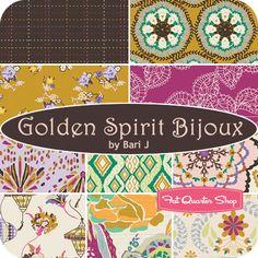 Golden Spirit Bijoux Fat Quarter Bundle Bari J. for Art Gallery Fabrics - Fat Quarter Shop