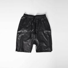 Shop our new basic leather drop shorts on Pict! http://pict.com/p/Bkn
