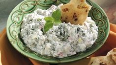 """CREAMY SPINACH DIP From Betty's Soul Food Collection...  Fondly nicknamed """"The Big Dipper,"""" our creamy spinach dip is a party favorite—especially during the Christmas season, with spinach and pimentos blended for holiday color. http://www.tablespoon.com/recipes/creamy-spinach-dip/efd6304a-2f12-415e-b87f-88d5eea46586"""