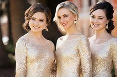 All that's gold is everything your bridal party could ever want… and more! #sorellavita #bridesmaids