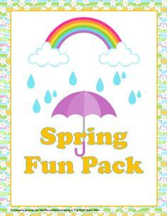 Free Spring Printable Pack - http://www.yearroundhomeschooling.com/free-spring-printable-pack/
