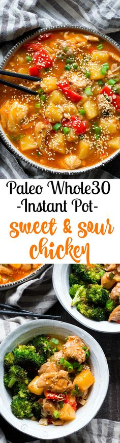 Sweet and Sour Chicken in the Instant Pot {Paleo, Whole30} | The Paleo Running Momma