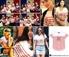 Buy Alison Brie, Lily Collins, Vanessa Hudgens, Cat Deeley, Krysten Ritter, and Jamie Chung's Striped Paris Mon Amour Shirt, here!