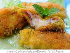 Fiori di zucchine ripieni fritti impanati