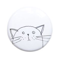 Cat Magnets, Cute Fridge Magnets, Meow, Cat Lover Gift, Pussy Cat, Animal Magnet, Unique Party Favor, Cute Gift Idea,  Black, White, Poosac