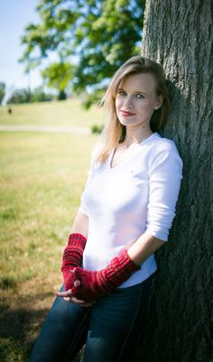 Hand Knit Slouchy Gauntlet Fingerless Mittens in by Sugarboys