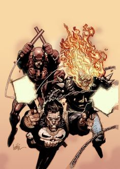 Daredevil, Ghost Rider and the Punisher