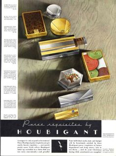 1930's Houbigant ad.  From British Compact Collectors Society. www.compactcollectors.co.uk