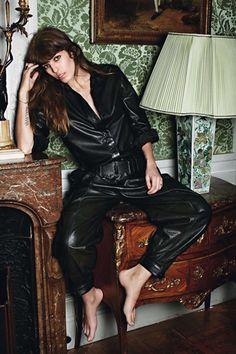 "designerleather: "" Lou Doillon for Vogue Paris - Hermes "" Charlotte Gainsbourg, Lou Doillon, Jane Birkin, Caroline Bessette Kennedy, High Class Fashion, Artist Film, Art Partner, Style Matters, Leather Dresses"