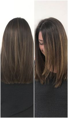 The perfect fall hair cut and color for medium length brown hair. So happy with it.