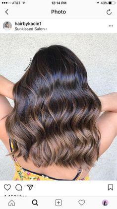 k a t i e 🥀 @kathryynnicole Brown Hair Balayage, Brown Blonde Hair, Balayage Brunette, Hair Color Balayage, Brunette Hair, Hair Highlights, Ombre Hair, Haircolor, Hair Color And Cut