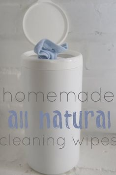 Home made cleaning wipes to replace those clorox wipes.  Less toxic and way less expensive!
