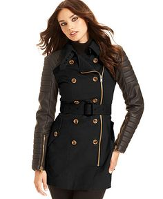 I like it with the tan body and dark sleeves   http://www1.macys.com/shop/product/w118-by-walter-baker-long-sleeve-quilted-faux-leather-trench?ID=737096=se-xx-xx-xx.esn_results=true=true