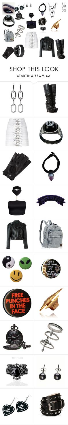 """had to"" by frostbiten ❤ liked on Polyvore featuring Alexander Wang, Manokhi, Roeckl, Monies, Jean-Paul Gaultier, Miss Selfridge, Black, Witch Worldwide and Barbara Bui"