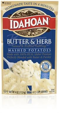 & Herb Flavored Mashed Potatoes Made with 100% REAL Idaho® Potatoes ...