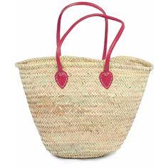 Bohemia - Souk Shopper Basket, Fuchsia (€33) ❤ liked on Polyvore featuring home, home decor, small item storage, hand woven baskets, woven storage baskets, handwoven baskets, storage baskets and woven baskets