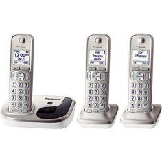 Panasonic KX-TGD213N Expandable Digital Cordless Phone with 3 Handsets