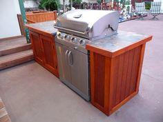 Outdoor islands grill island plans in our finished projects ideas kitchen bbq how to build a famous outdoo Outdoor Grill Island, Outdoor Barbeque, Bbq Island, Outdoor Kitchen Plans, Outdoor Kitchen Design, Outdoor Cooking, Outdoor Kitchens, Shawarma, Bowls