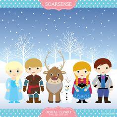 Frozen Snow Clipart by soarsense on Etsy, $5.00