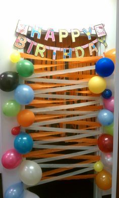 A nice birthday surprise for my coworker. birthday door decorations