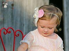 Baby Pink Rosette Headband - Bridal hair accessories (*Amazon Partner-Link)