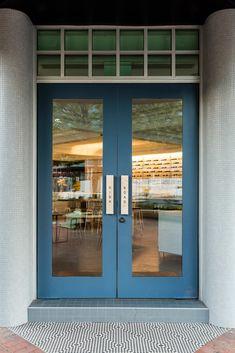 Highroad Cafe in Canberra by Foolscap Studio Entrance Design, Gate Design, Door Design, Front Door Entrance, Entry Doors, Restaurant Entrance, Cafe Door, 2017 Design, Design Design