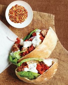 Meatball Pita Sandwiches - Martha Stewart Recipes
