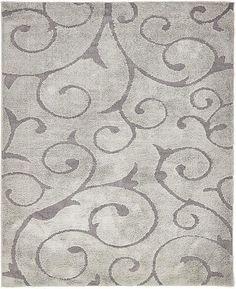 Gray 8' x 10' Floral Shag Rug | Area Rugs | eSaleRugs