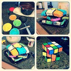 Someone Still Hasn't Solved the Ol' Rubik's Cube Epic Cake Fails, Epic Fail, Baking Fails, Special Birthday Cakes, Food Fails, Shattered Dreams, Expectation Vs Reality, Pinterest Fails, Rubik's Cube