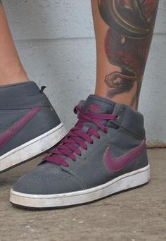 Womens Retro Nike Hightops - Grey