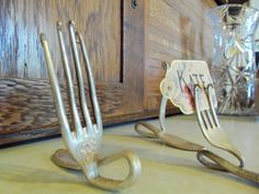 Antique Silverware Place Card Holder by pasttimecreations on Etsy, $5.00