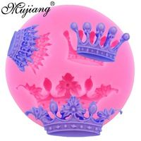 Mujiang Crown Silicone Fondant Molds Cake Decorating Tools Candy Clay Gumpaste Chocolate Mold Kitchen Baking Moulds CC205