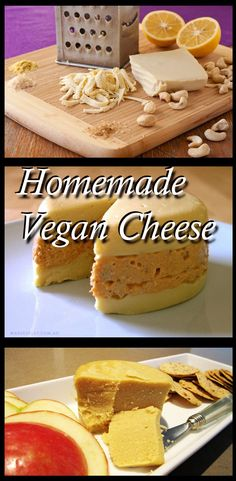 Plant Based Diet Recipes: Homemade Vegan Cheese... How to make your very own vegan cheese (several different versions that you can try!) :)