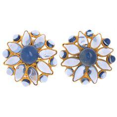 Maison Gripoix Poured Glass Earrings