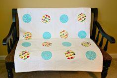 Modern Baby Quilt: Baby Boy Quilt Modern by SewChicQuiltBoutique