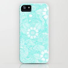 Henna Design - Aqua iPhone Case