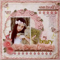 Scrapbook page made by design team member Gabrielle Polllacco using NEW Websters Pages Everyday Poetry collection